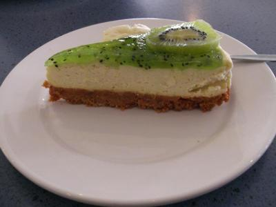 very touristic - kiwi cheesecake with L&P flavour